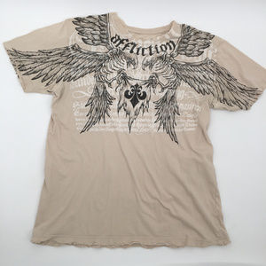 Affliction destroyed Graphic tee large